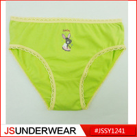 sexy girls preteen underwear with front printing girl's brief from OEM factory