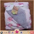 2015 hotsell Super soft sherpa and microplush baby swaddle blanket