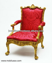 Amazing french carved armchair style Louis xv