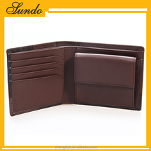 Hot Product for Vintage Design OEM Genuine Cow Leather Wallet