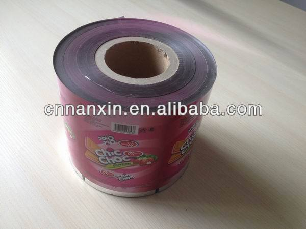 laminated plastic packaging film for food packaging