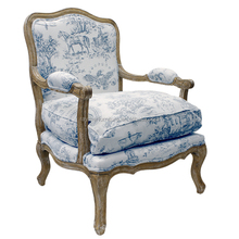 Home Furniture Antique English French Style Carving Wood Frame Upholstery Boster Armchair