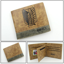 Folding Wallet Coin Purse Hot Game Attack on Titan PU Anime Wallet