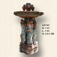 Hot sale large bronze water fountain