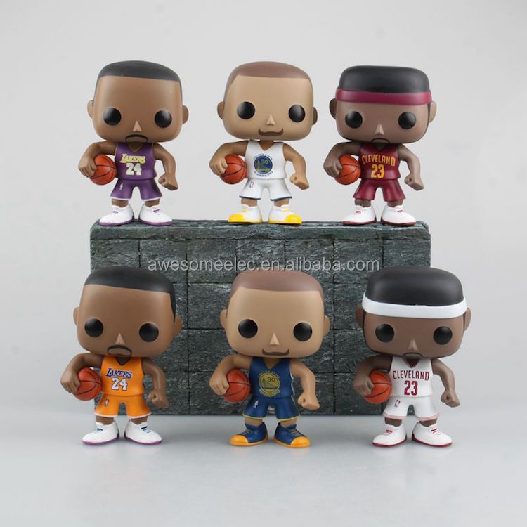 Fashion FUNKO POP Basketball NBA World Star PVC Action Figure Model Toy Hot