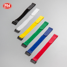Customized Colorful Reusable Nylon Buckles Fastening Hook Loop Cable Tie/Wire Strap