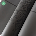 Full Laser Engraved Natural Rubber and PU Yoga Mat
