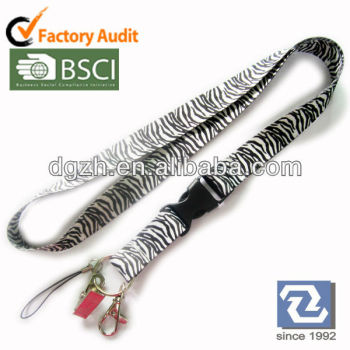 Design polyester lanyards, sublimation neck straps