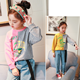 KS21701G 2018 Hot sale fashion contrast color cool style hoodies for girls