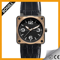2015 Vogue Big Watch Head Square Leather Strap Quartz Wrist Watch For Western Watches