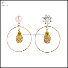 Latest fashion pineapple Earrings women jewelry