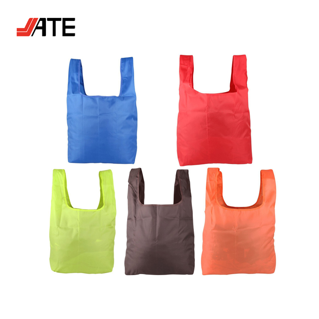 NYLON Reusable Grocery Shopping Bag Ripstop Nylon Tote Foldable Integrated Pouch ,Reusable Trolley Shopping Bags