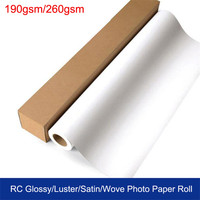Wholesale China Cheap Inkjet RC Glossy Luster Satin Wove Photo Paper 190gsm 260gsm Jumbo Roll