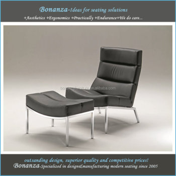 CH-101#leather lounge chair and ottoman, lounge and footstool designs, modern lounge chair and ottman