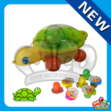 80pcs fruit jelly candy in animal toy tortoise jar