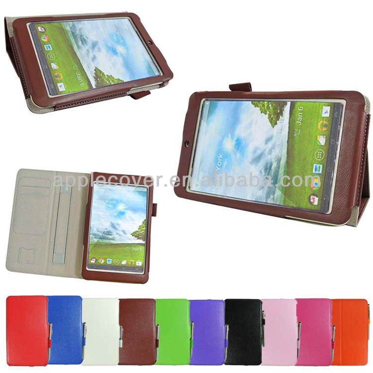 leather tablet case cover for ASUS MeMO Pad HD 7