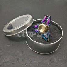NEW products guangzhou Stress Release Pressure metal Toys fidget colorful rainbow spinners finger gyro hand spinner