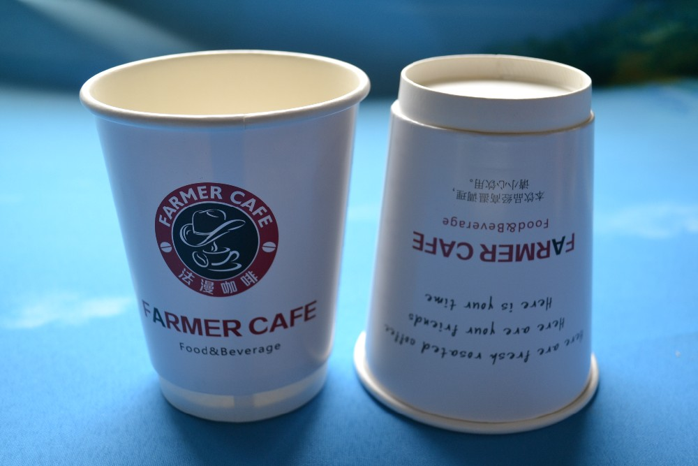 16oz double wall hot drinks disposable customized juice paper cup