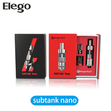 Elego Best Seller Kanger Subtank Nano Clearomizer With Subtank OCC Coil&Durable Structure