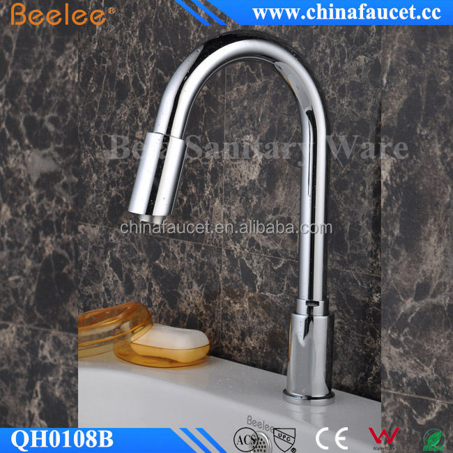 Monobloc Automatic Hands Touch Free Sensor Faucet for Bathroom