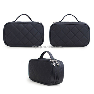 Classics Lightweight 2 Layer Makeup Storage Bag Portable Travel Cosmetic Bag with Carry Handle for Women Toiletry for Outdoor