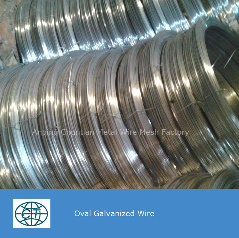 Oval Galvanized Wire in 2.4X3.0mm for Farm Fencing