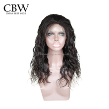 Nice quality Brazilian Human Hair Loose curly 360 Wig Lace Front Wig with baby hair