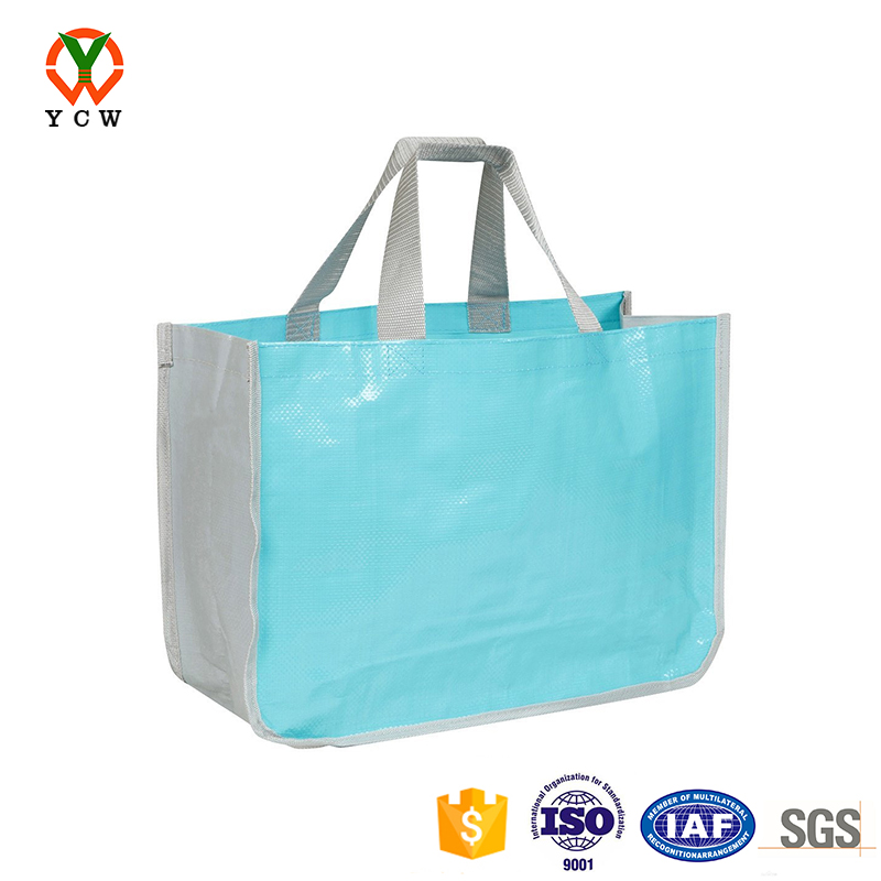 Reusable market shopping bag tote made form recycled materials