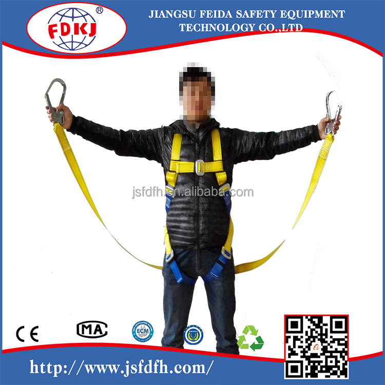 full body harness with shock absorber