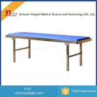 Portable steel hospital medical couch examination bed
