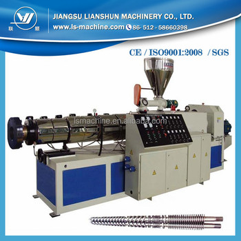 Price of Conical Double Screw Plastic Extruder Machine