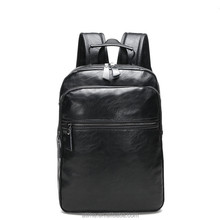leisure real genuine leather bags men PU laptop back pack <strong>fashionable</strong>