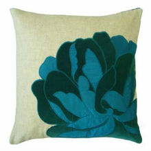 peony flower embroidery design chinese pillow