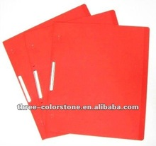 Logam-klip Kertas File Folder, klip folder, karton, Orange, 10/pack