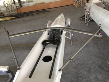 Fiberglass recreational rowing training boat