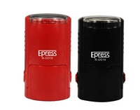 China Stamping Maker Epress 19mm Round Self inking Stamps Round customised case and blank case available