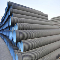High Density HDPE Plastic Double Wall Corrugated Pipe Price