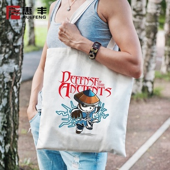 China Manufacturers Supply Foldable Printed White Tote Bag