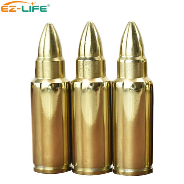 Souvenir Gift Gold Stainless Steel Amazing Bullet Whiskey Stones For Cool <strong>Wine</strong>