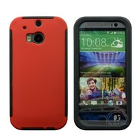 Full protection dirt dust proof hard cover case for htc one m8 case