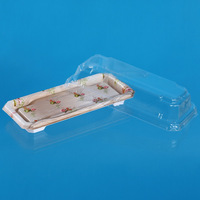 Popular Disposable plastic deli take-our container with clear lid