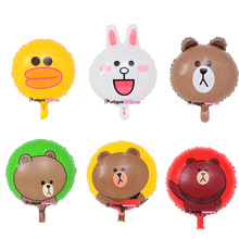 partigos wholesale 2017 LineFriends Brown bear Sally Minnie rabbit chicken foil helium balloon for Children Toy