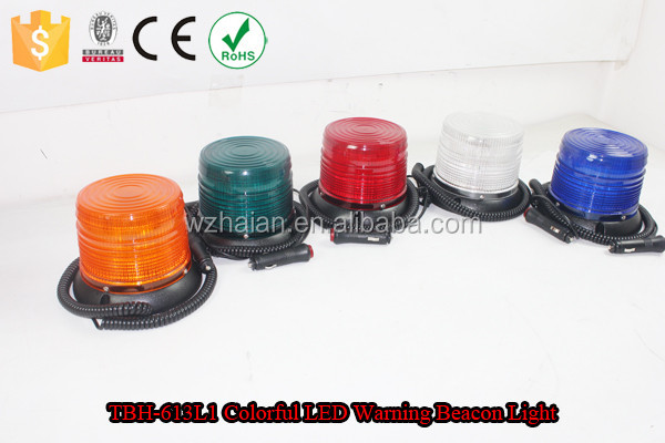 Super Red Bright LED Warning Beacon/Strobe LED Magnetic Light/Red Ambulance Roof Signal Light TBH-613L3