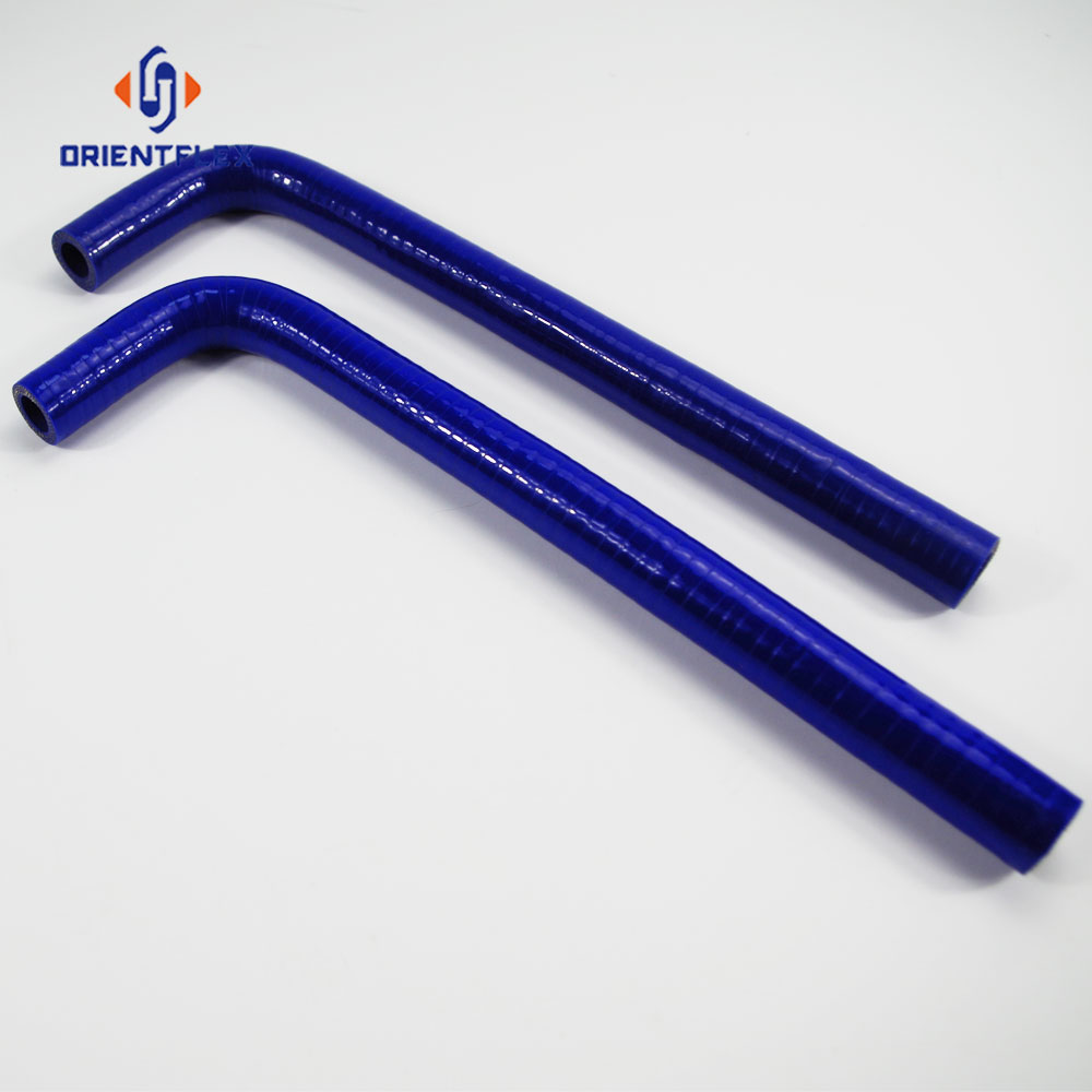 Fiber Reinforced Flexible 90 Degree Elbow Silicone Rubber Hose