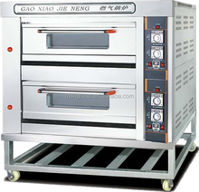 Stainless Steel 2 layers 4 trays Baking oven/bakery machine with tempered glass door