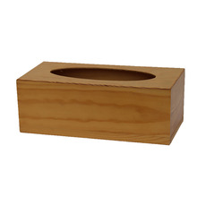Hand-Painted Wooden Tissue Holder Box