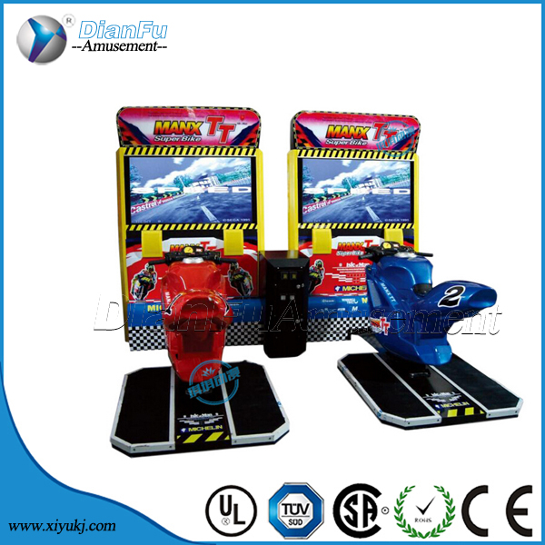 High quality arcade game machine motorcycle Max TT/motorcycle racing game