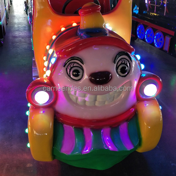 christmas trackless train amusement park adult rides