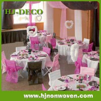 Non woven shutter and chair cover for wedding decoration