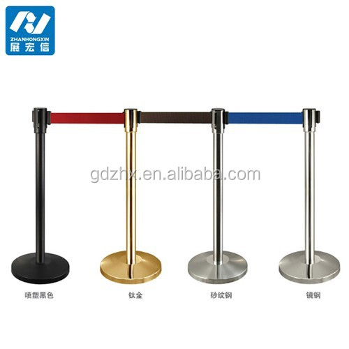 Factory Outlet functional bank queue belt barrier Shopping malls and hotel parking safety barrier